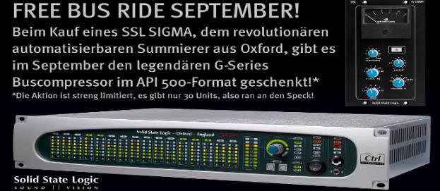SSL Sigma + G-Serie Buscompressor (API 500er Format)