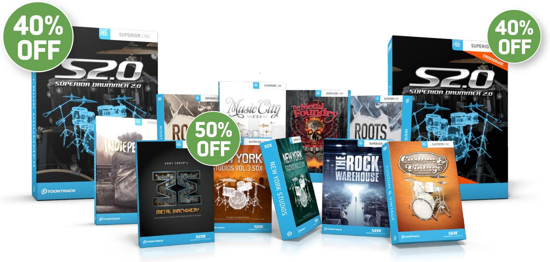 TOONTRACK Sommer Promo 2016 - BoxshotsDiscounts